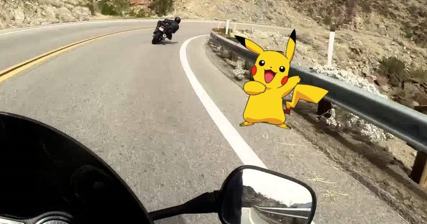 Pokémon Go Pikachu in road