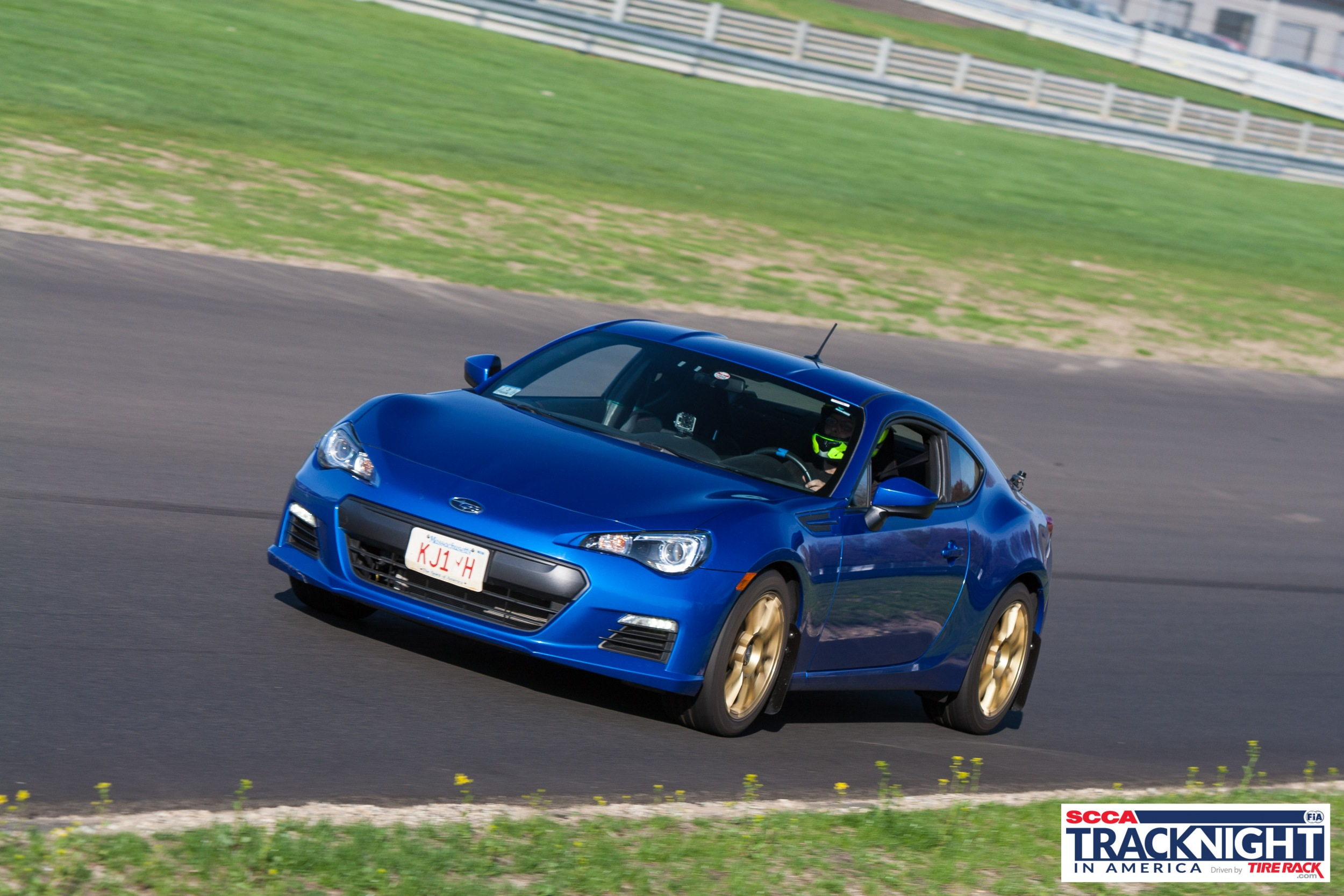 Subaru BRZ on track