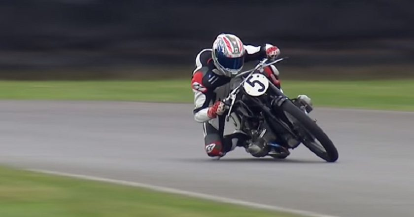 Troy Corser on a 1935 BMW RSS at Goodwood